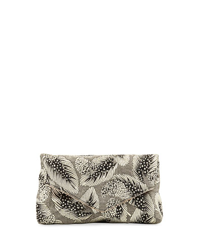 Leaf Brocade Small Crossbody Bag