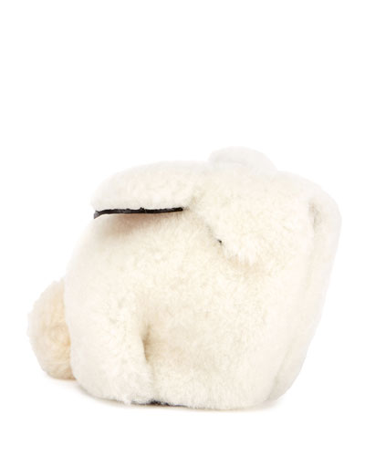 Shearling Fur Bunny Coin Purse