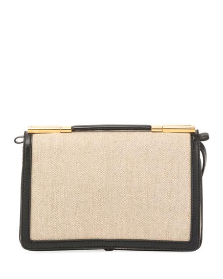 Framed Canvas Small Shoulder Bag
