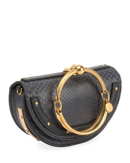 Nile Small Python Bracelet Minaudiere Bag