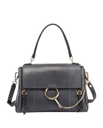 Faye Day Mixed Flap Shoulder Bag