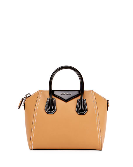 Givenchy Antigona Bicolor Small Leather Satchel Bag