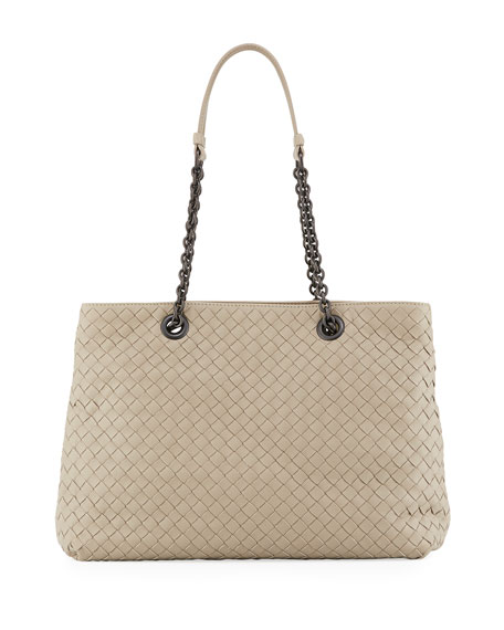 5895320fce5c Bottega Veneta Intrecciato Medium Double-Chain Tote Bag