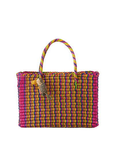 Maldive Medium Tote Bag with Toucan Detail