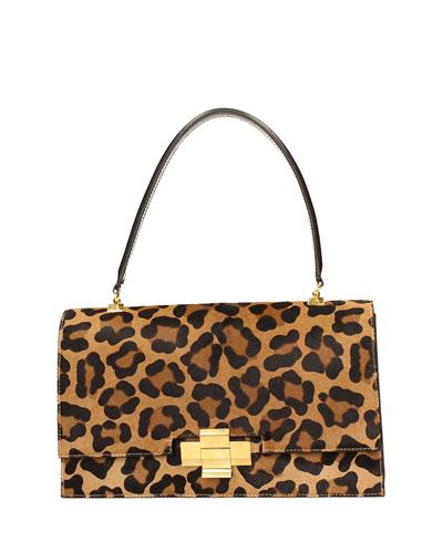 Leopard Haircalf Alice Bag