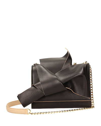Small Leather Bow Shoulder Bag