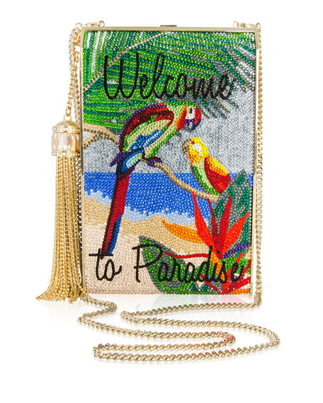 Welcome to Paradise Crystal Clutch Bag