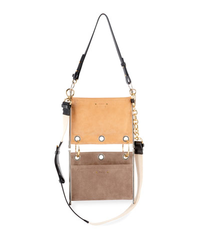 Roy Double Layered Leather/Suede Shoulder Bag