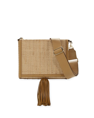 Attiki Raffia Tassel Shoulder Bag