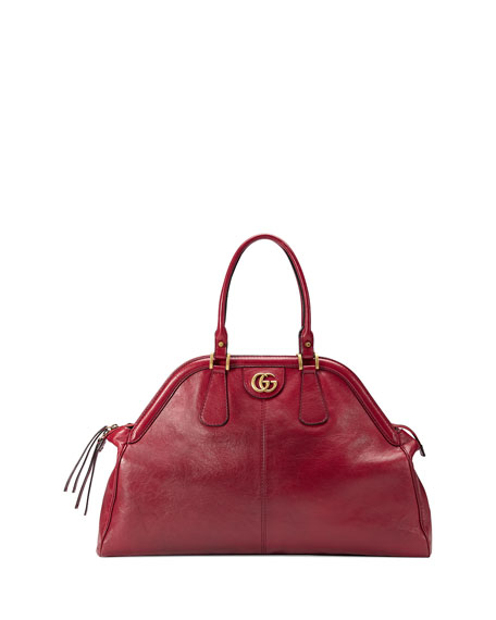 RE(BELLE) Large Leather Top Handle Bag