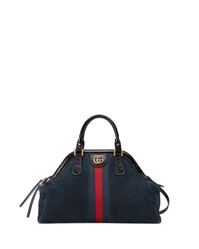 RE(BELLE) Medium Suede Top Handle Bag