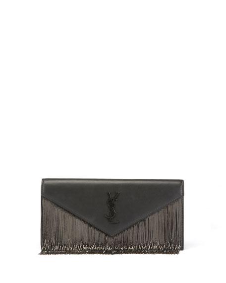 Le Sept Chain-Fringe Clutch Bag