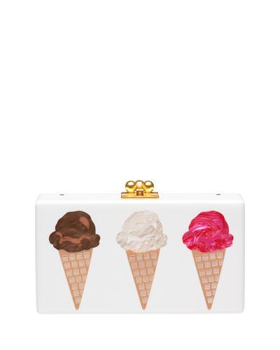 Jean Scoop Acrylic Box Clutch Bag
