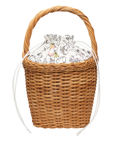Lily Wicker Top Handle Bag