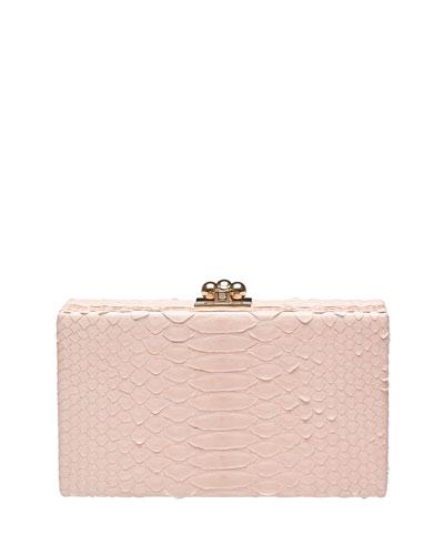 Jean Python Box Clutch Bag