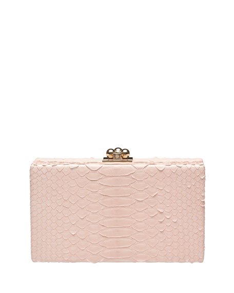 Jean Python Box Clutch Bag