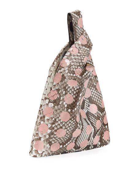 Mini Dotted Python Shopper Tote Bag