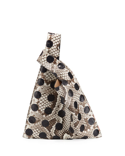 Mini Dotted Python Shopper Tote Bag