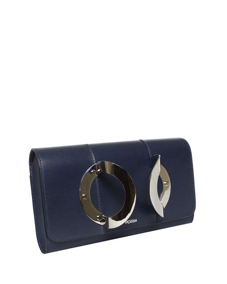 La Croisière Leather Clutch Bag