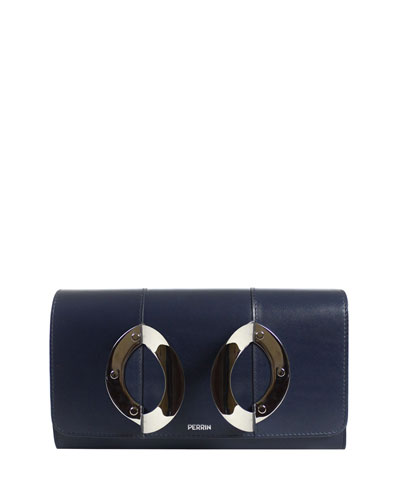 La Croisière Leather Clutch Bag
