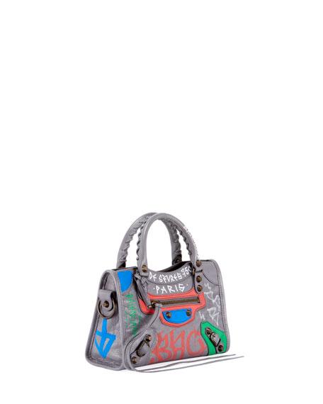 Classic City Mini City Graffiti-Print Tote Bag