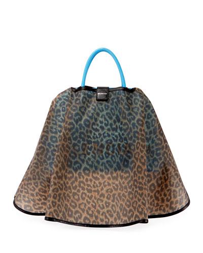 Ville AJ Leather Satchel Bag w/Cape