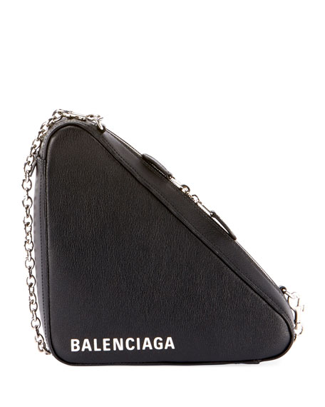 56af0b52580f Balenciaga Triangle Leather Chain Shoulder Bag