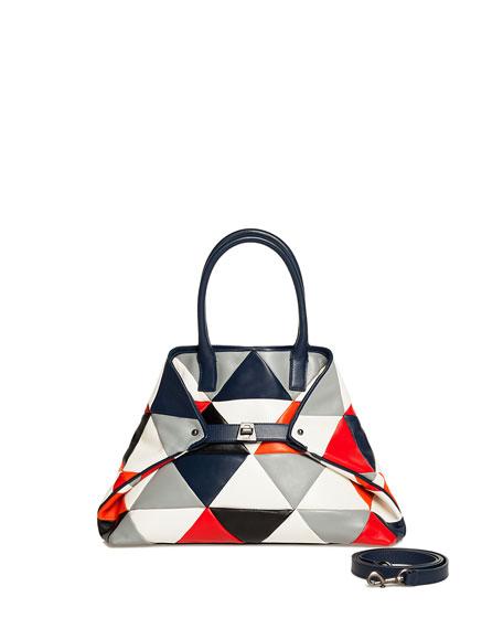 Akris Ai Small Colorblock Shoulder Bag