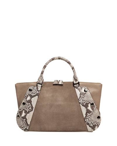 Aimee Small Two-Tone Satchel Bag