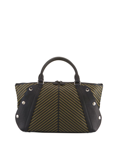 Aimee Small Herringbone Satchel Bag