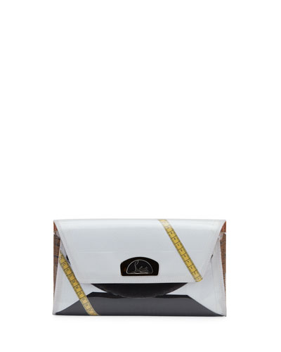 Vero Dodat Flap PVC Clutch Bag