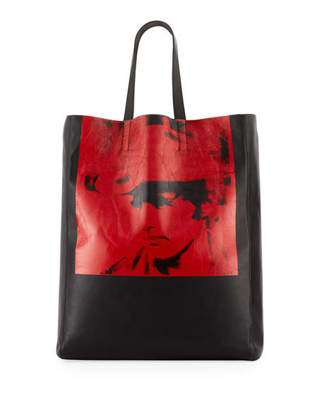X Andy Warhol Foundation Dennis Hopper Calfskin Leather Bucket Bag - Black, Red