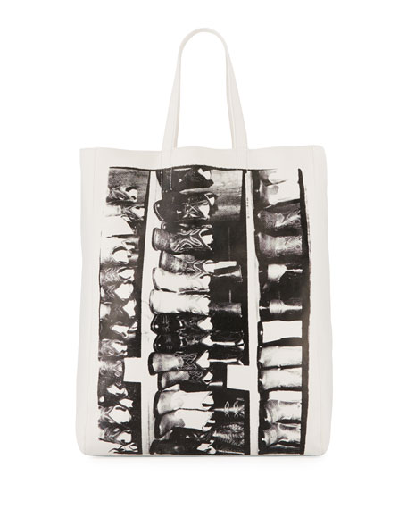 X Andy Warhol Foundation Boots Leather Tote - White