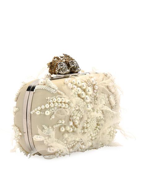 Queen & King Beaded Clutch Bag