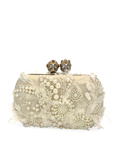 Queen & King Beaded Clutch Bag