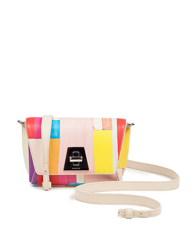 Anouk Little Day Crossbody Bag in Printed Leather