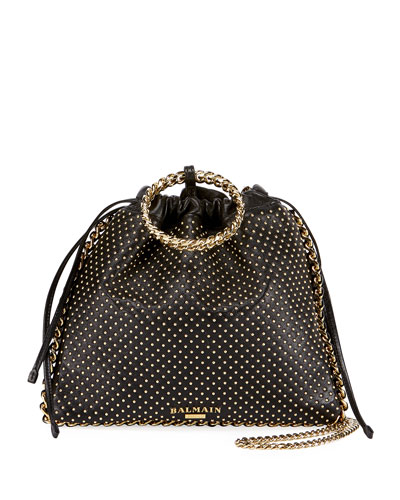 Leather Studded Bracelet Backpack