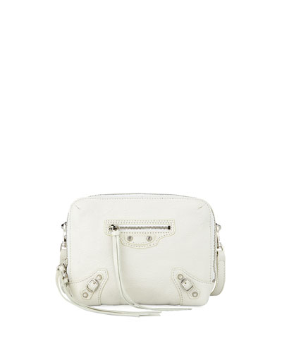 Nickel Reporter XS Lamb Leather Crossbody Bag