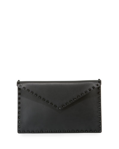 Rockstud Large Flat Pouch Bag