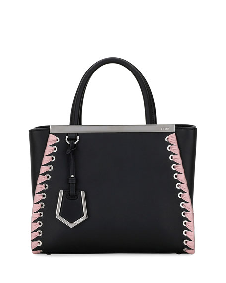 2JOURS PETITE CALF DOLCE TOTE BAG WITH RIBBON WHIPSTITCHING