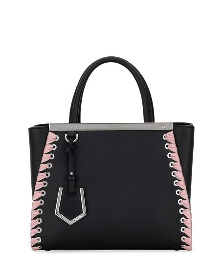 Fendi 2Jours Petite Calf Tote Bag with Ribbon