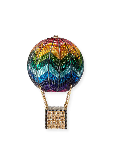 Judith Leiber Couture Rainbow Hot Air Balloon Crystal