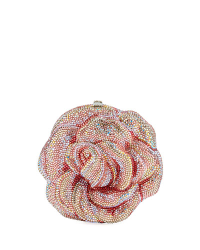 Rose Apricot Crystal Clutch Bag