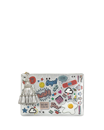 Georgiana All Over Wink Stickers Shoulder Bag