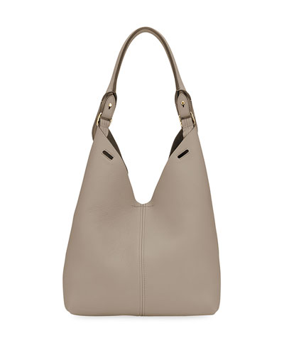 Build A Bag Mini Grain Leather Bucket Bag, Tan