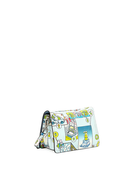 Etiquette Small Comic Print Shoulder Bag