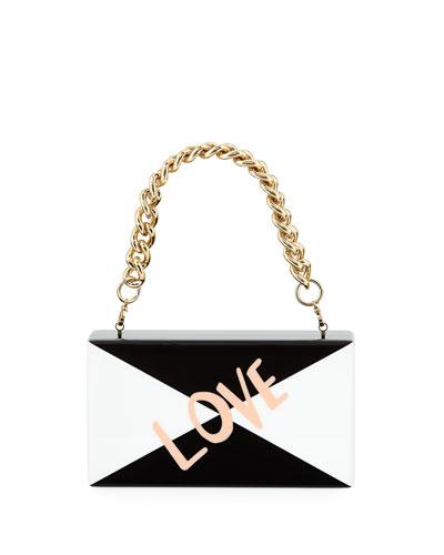 Jean Love Acrylic Clutch Bag with Handle