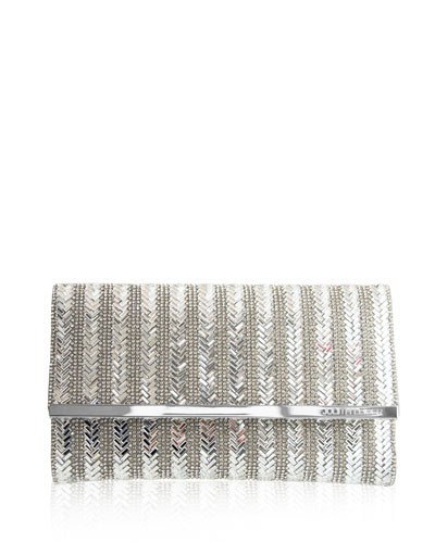 Manhattan Herringbone Clutch Bag