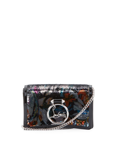 Ruby Lou Paillette Bouquet Clutch Bag