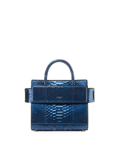Horizon Small Python Tote Bag